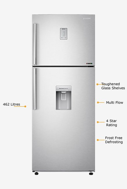 SAMSUNG Double Door RT47H567ESL Refrigerator Silver