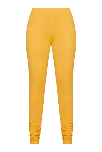 Utsa Yellow Lycra Churidar