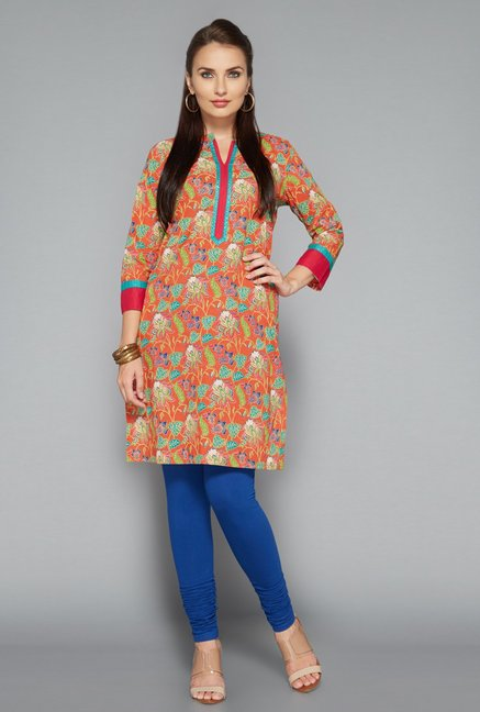 Utsa Blue Lycra Churidar