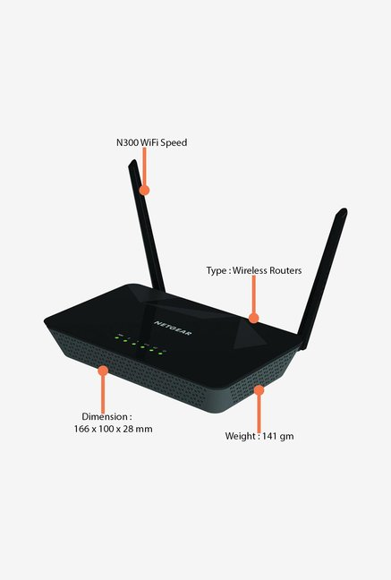 Netgear D1500 Router Black