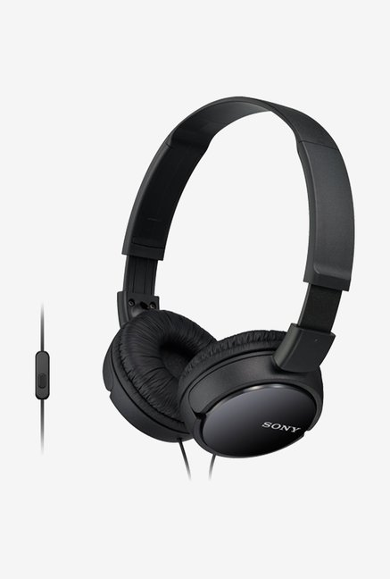 Sony MDR ZX110AP On the Ear Headphone  Black