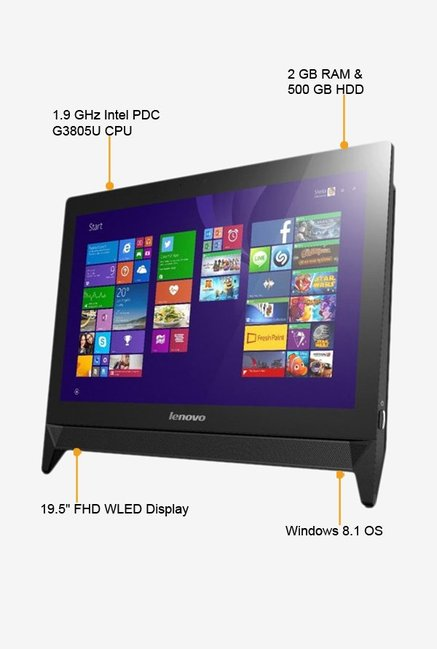 LENOVO C20-30 F0B2003VIN All-in-One Desktop Black