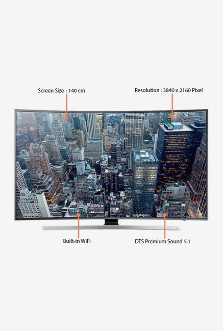 Samsung 55JU7500 139Cm (55 Inch) UHD 4K Curved Smart TV Grey