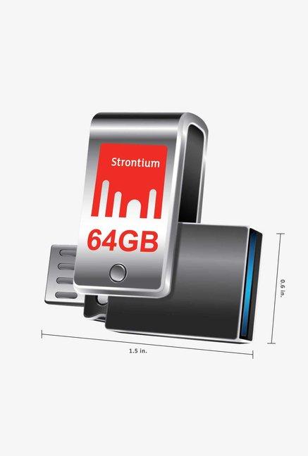 Strontium Nitro Plus USB 3.0 64GB Pen Drive (Black)
