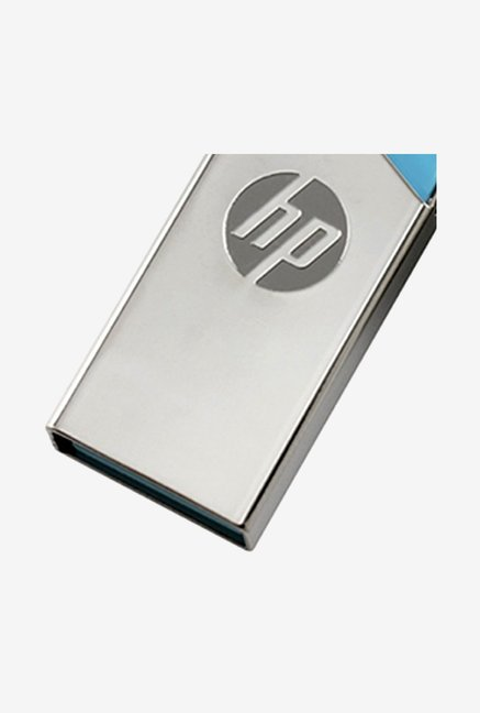 HP v215b 32GB USB Flash Drive Silver and Blue