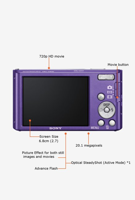 SONY Cyber-shot DSC-W830/V 20 MP Camera Violet