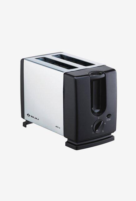 Bajaj Majesty ATX 3 Toaster Silver, Black