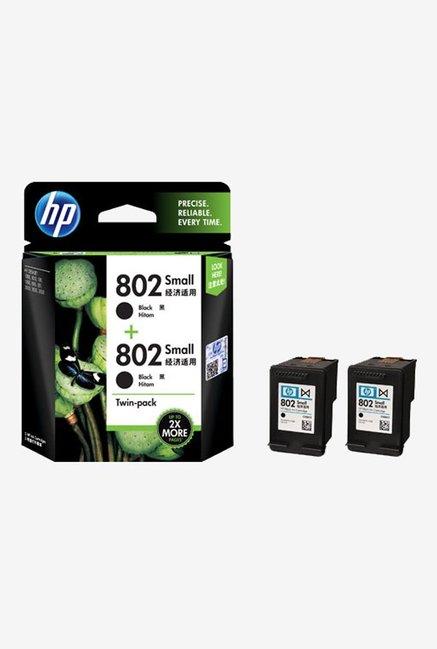 HP 802 2 Pack L0S21AA Ink Cartridge Black