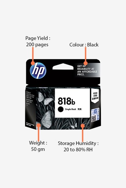 HP 818b CC636ZZ Ink Cartridge Black