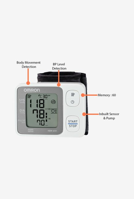 Omron Blood Pressure HEM-6131 Monitor White