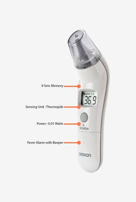 Omron TH-839S Ear Thermometer White