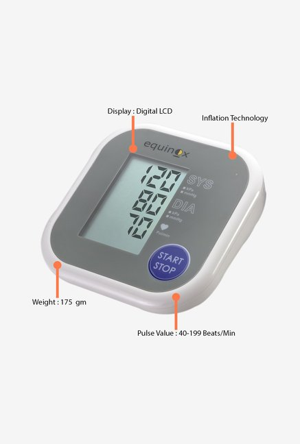 Equinox Blood Pressure EQ100 Monitor White