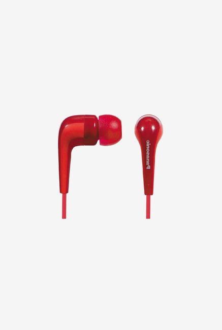Panasonic RP-HJE140 In the Ear Headphone Red