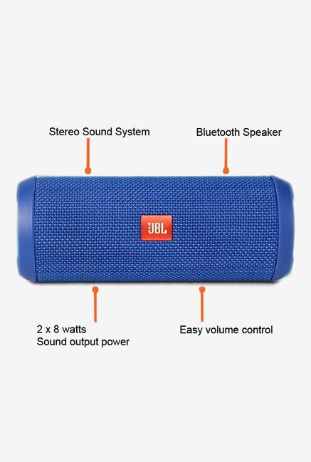JBL Flip3 Bluetooth Speaker Blue
