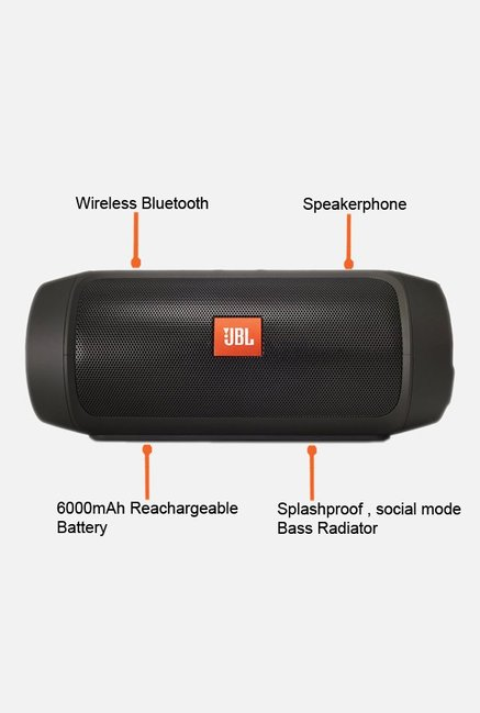 JBL Charge2+ Bluetooth Speaker Black