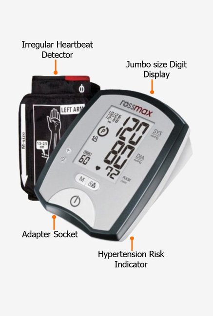 Rossmax MJ701F Blood Pressure Monitor Grey