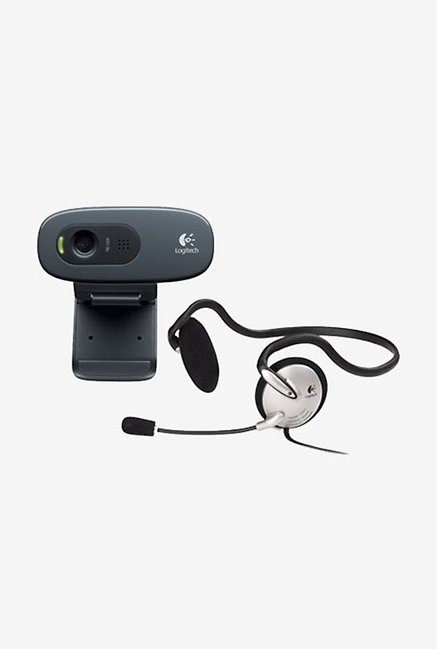 Logitech C270h HD Webcam & Headset Black