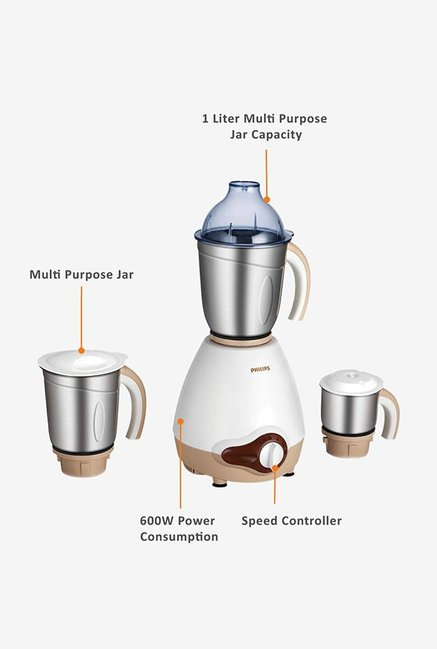 Philips Viva Collection HL1646/01 600 W Mixer Grinder White