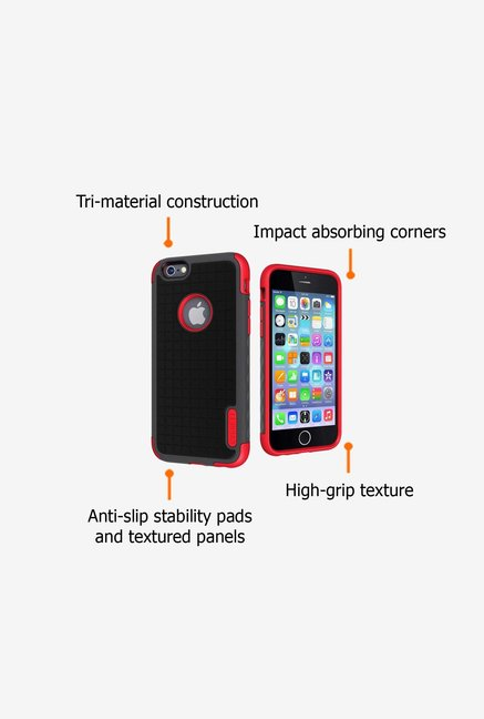 Cygnett Workmate CY1668CPWOR iPhone 6 Case Grey and Red