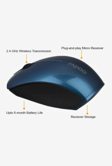 Rapoo 2.4G Wireless 3360 mini Mouse Blue