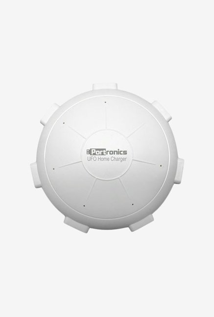Portronics UFO Home 6 Port 8A Charging Station (White)