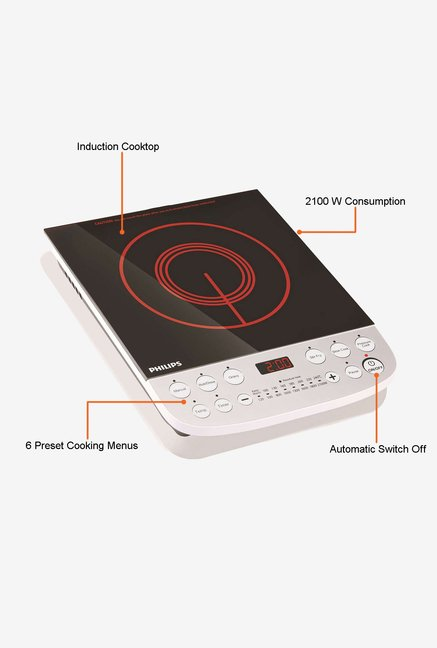 Philips HD4908/00 Induction Cooktop Black and Red
