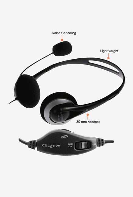 Creative CT-HS-330 On The Ear Headset Black