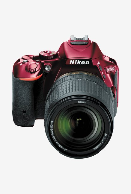 Nikon 18-140mm D5500 DSLR with Lens Red