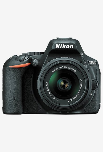 Nikon D5500 with  18 55mm Lens  DSLR Camera  Black  Nikon Electronics TATA CLIQ
