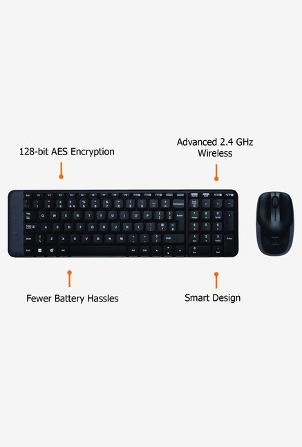 Logitech MK220 Keyboard and Mouse Black