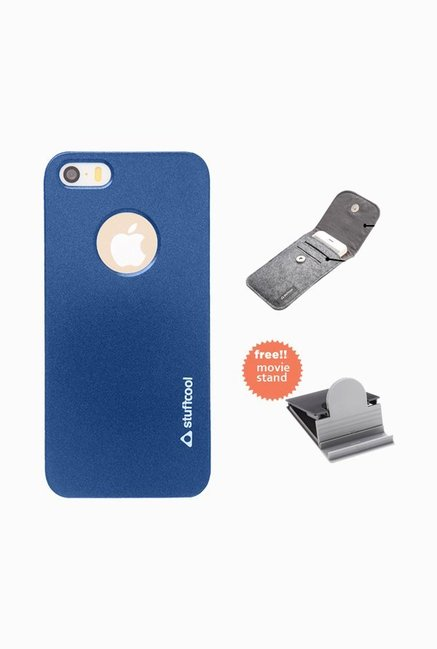 Stuffcool EMIP5S Back Case for Apple iPhone 5/5s Blue