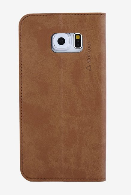 Stuffcool BRVSGS6 Flip Cover for Samsung Galaxy S6 Brown