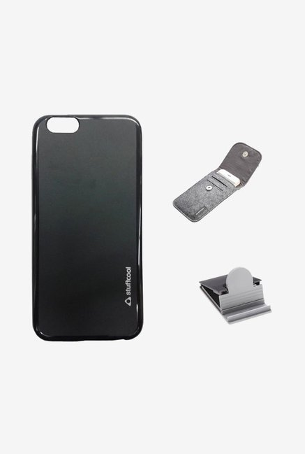 Stuffcool LSIP655 Back Case for Apple iPhone 6+ Black
