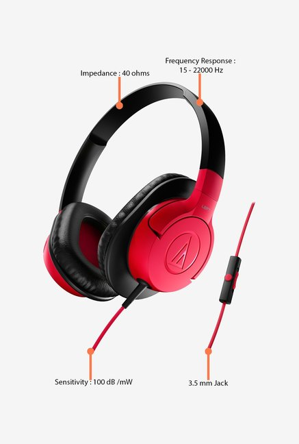 Audio-Technica ATH-AX1iS Headphones Red