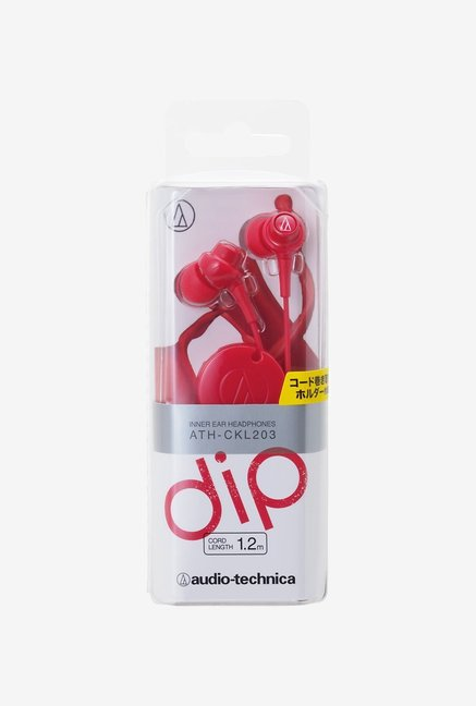 Audio-Technica CKL203 In The Ear Headphones Red
