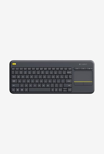 Logitech Wireless K400 Plus Touch Keyboard Black