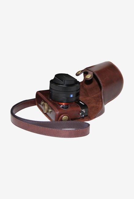 MegaGear Ever Ready Leather Camera Case Dark Brown