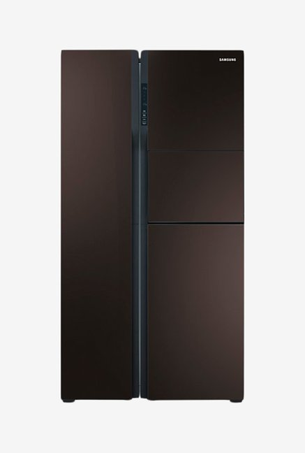 Samsung 590L Side by Side RS554NRUA9M Refrigerator Brown
