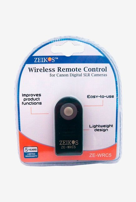 Zeikos ZE-WRC5 Wireless Remote For Canon Black