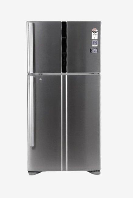 Hitachi 510 L Double Door R-V610PND3KX Refrigerator Silver