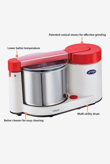 ElgiUltra Micro 1.75L Wet Grinder Red