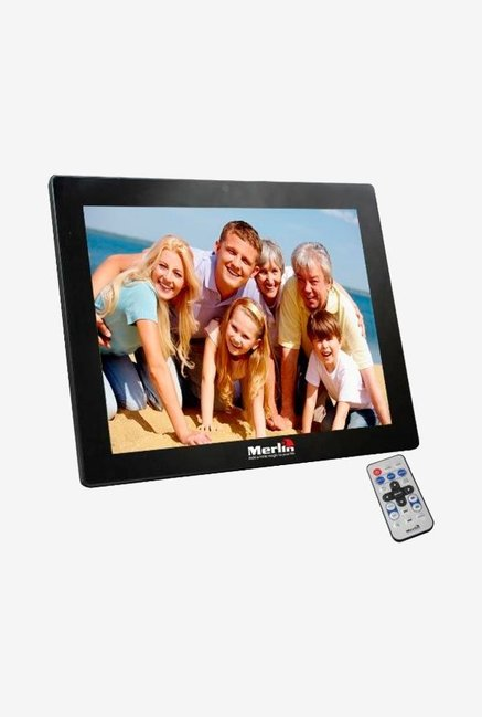 Merlin 15 Inch Digital Photo Frame Black