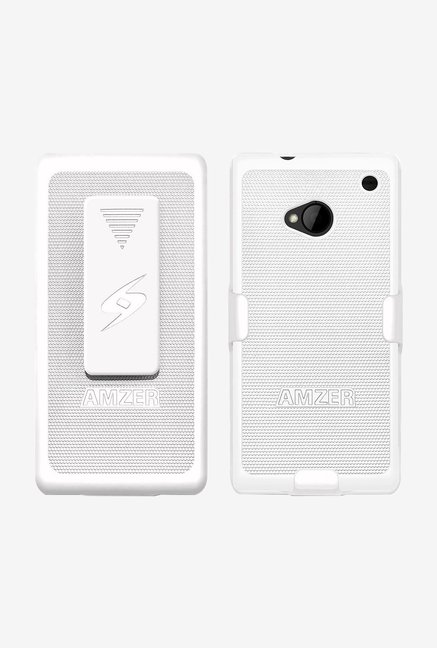 Amzer Shellster Shell Case White for HTC One M7