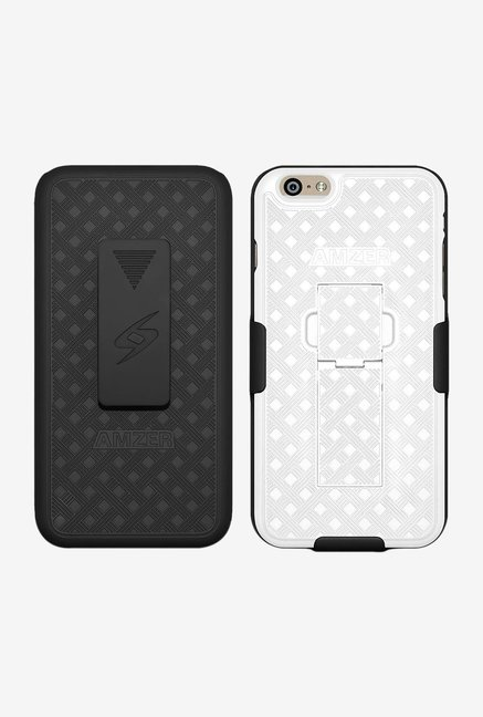 Amzer Shellster Case with Kickstand Black/White for iPhone6+