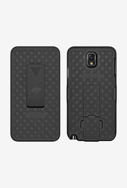 Amzer Shellster Case with Kickstand Black for Galaxy Note 3