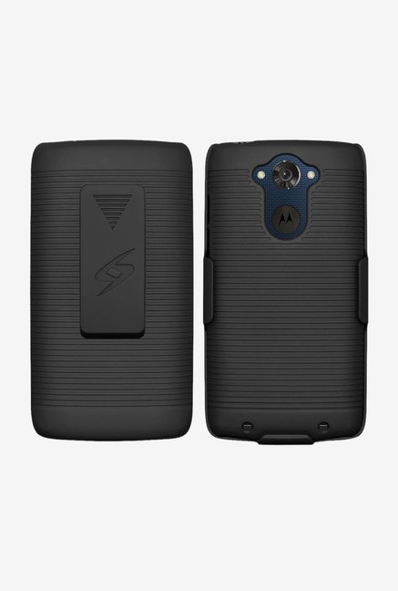 Amzer Shellster Shell Case Black for Motorola DROID Turbo
