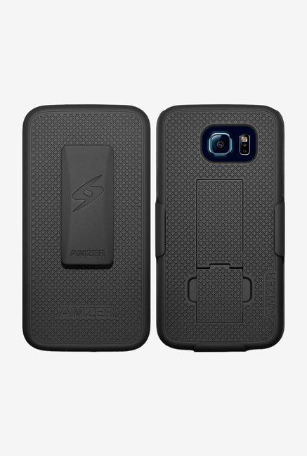 Amzer Shellster Case with Kickstand Black for Galaxy S6