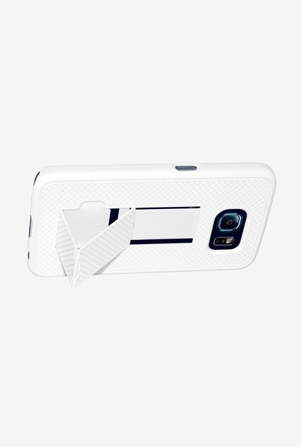 Amzer Shellster Case with Kickstand White for Galaxy S6