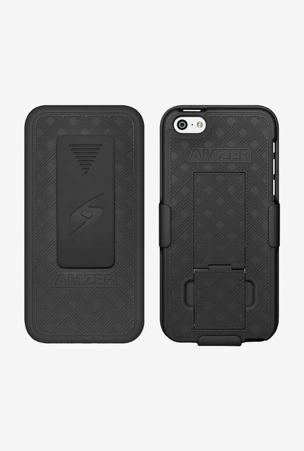 Amzer Shellster Case with Kickstand Black for iPhone 5C