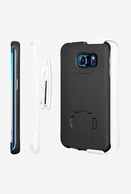 Amzer Shellster Case with Kickstand White/Black for S6 Edge